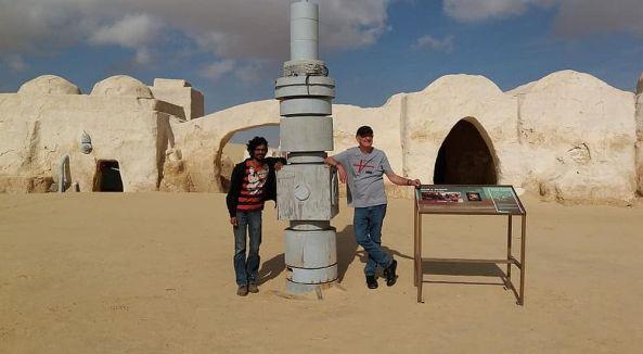 Mos Espa in der Wüste bei Star Wars
