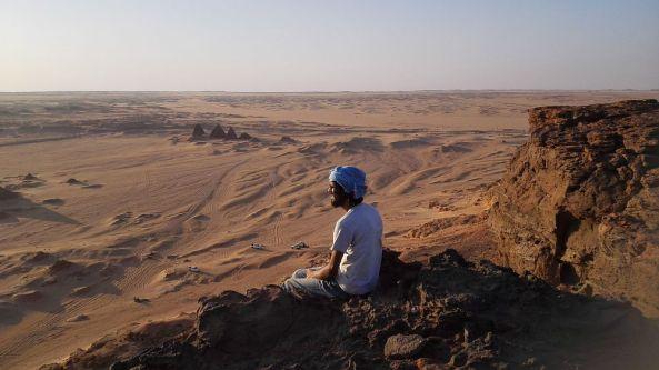 Die Aussicht am heiligen Berg Jebel Barkal