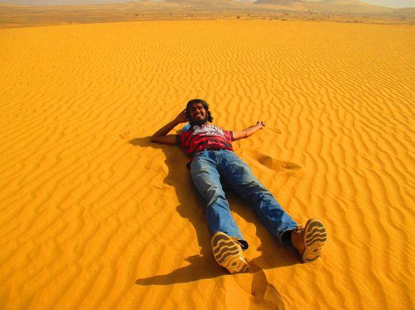 Pause in der Wüste