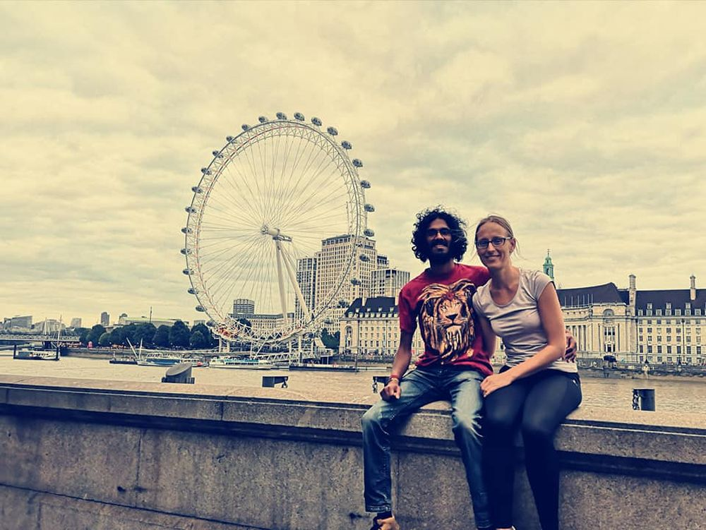 Meine Freundin und ich sind in London