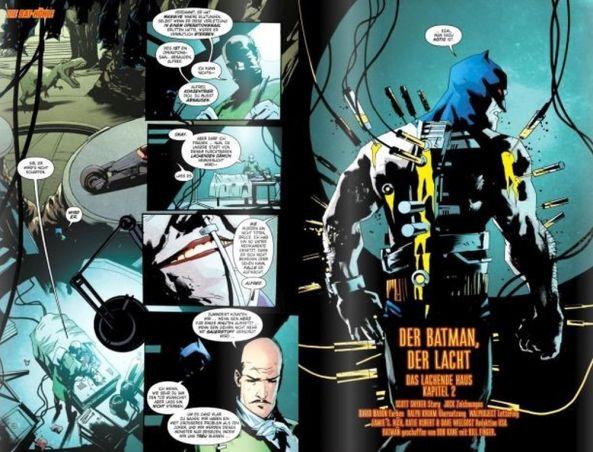 Batman muss sich mit dem Jokertoxin-Gegenmittel schützen
