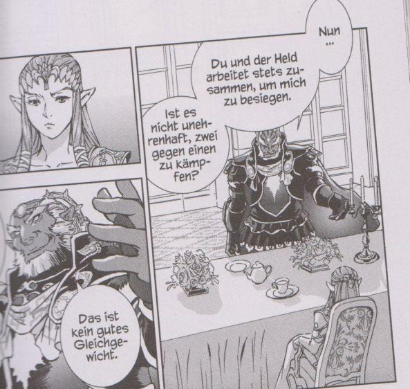 Zelda und Ganondorf im Gespräch
