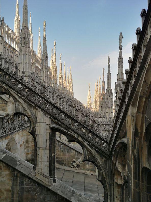 Auf dem Dom in Mailand